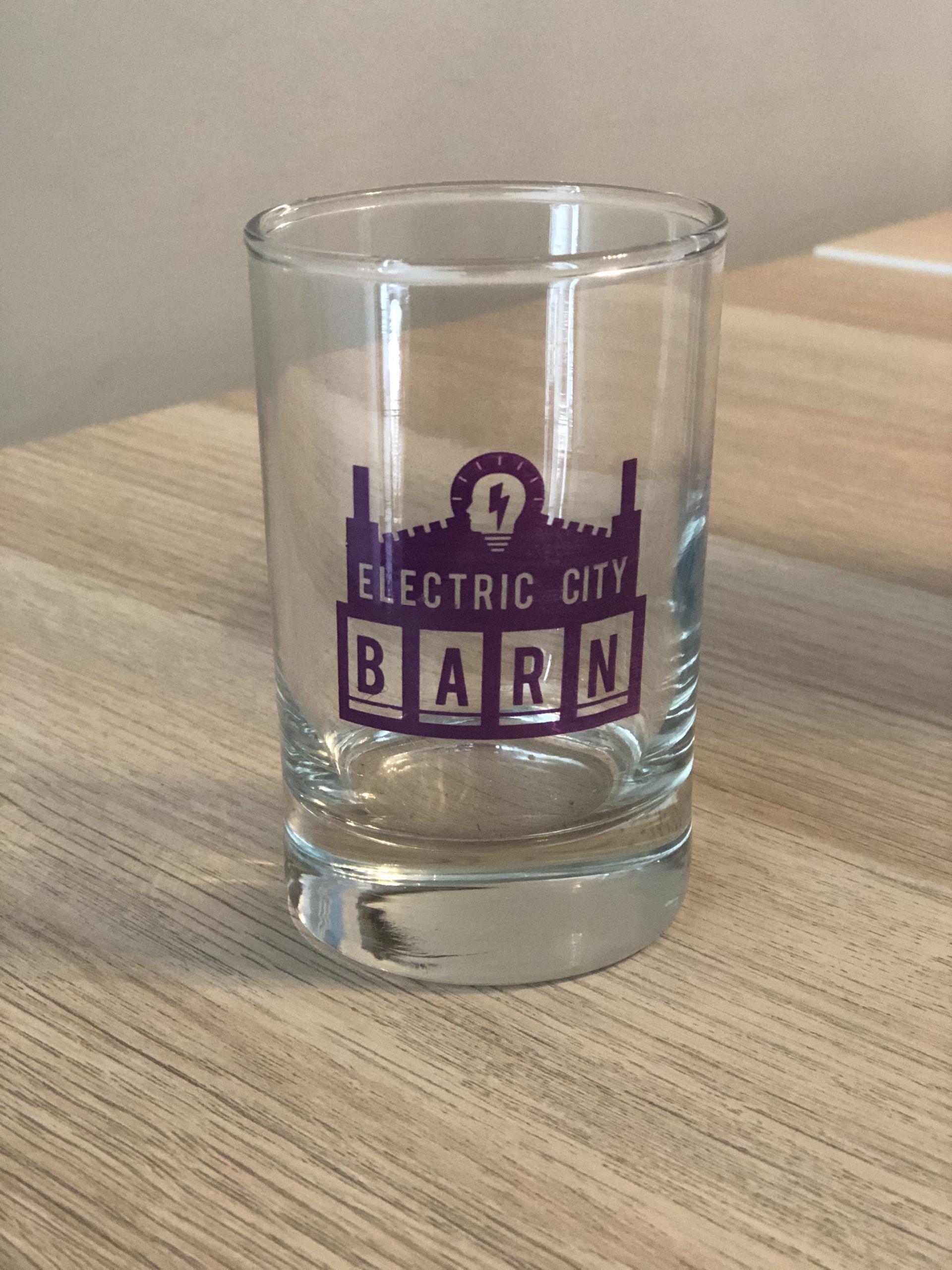 ECB Logo Rocks Glass